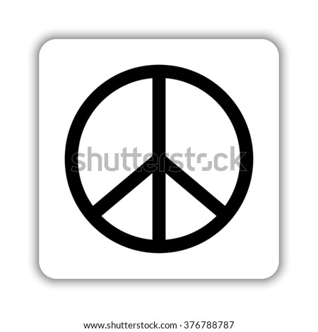 Peace sign -  black vector icon