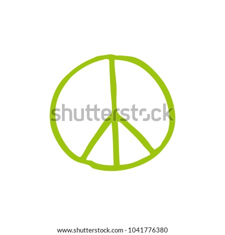 peace sign doodle icon