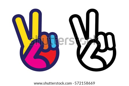 Peace Sign Hand Icon
