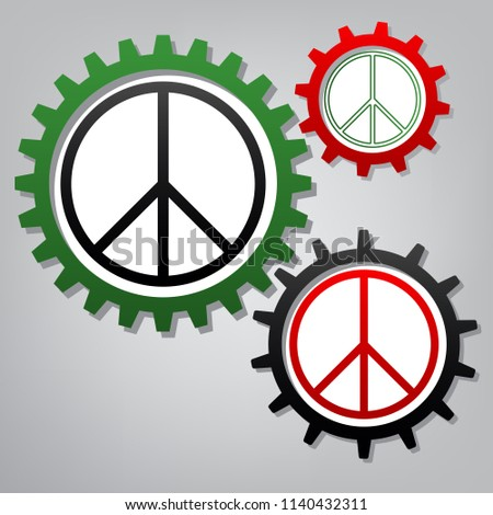 peace sign illustration vector