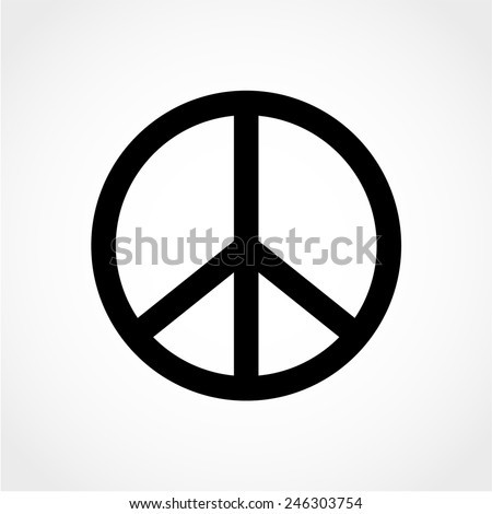 Peace sign Isolated on White Background