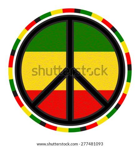 peace sign round emblem on