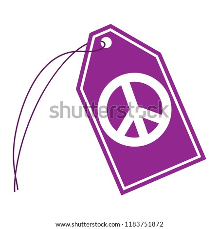 Peace Sign String Tag