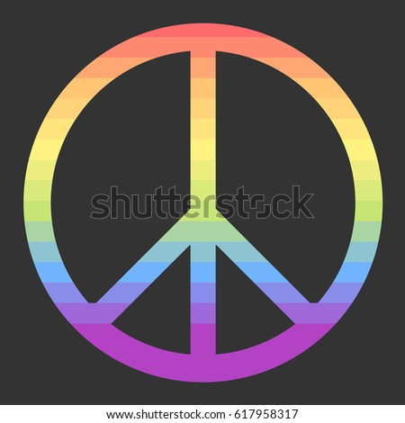 peace sign vector coor
