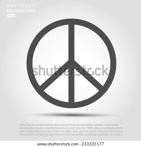 Peace sign  Vector EPS 10 illustration.