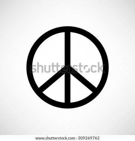 Peace sign - vector icon