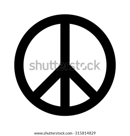 Peace sign . Vector illustration