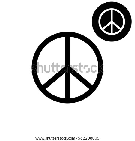 Peace sign  - white vector icon