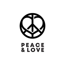 Peace Sign With Love Element