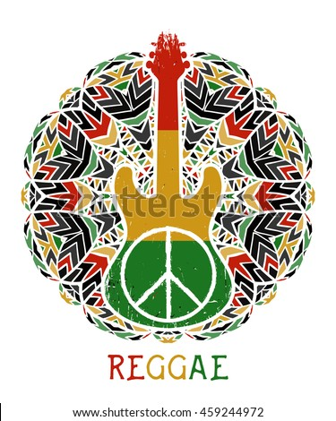 peace symbol and guitar on