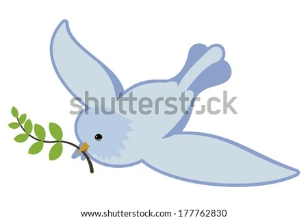 peace symbol  dove in flight