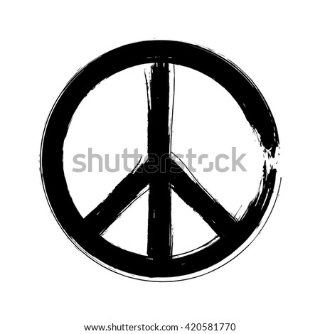 peace symbol icon vector friendship pacifism