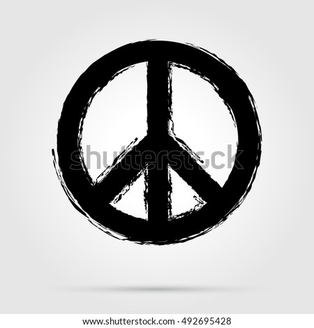 peace symbol icon vector friendship pacifism illustration eps 10