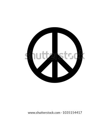 Peace Symbol icon Vector illustration, EPS10.