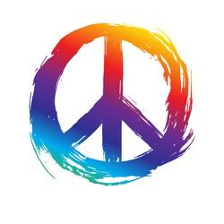Peace symbol. Peace hippie symbol.