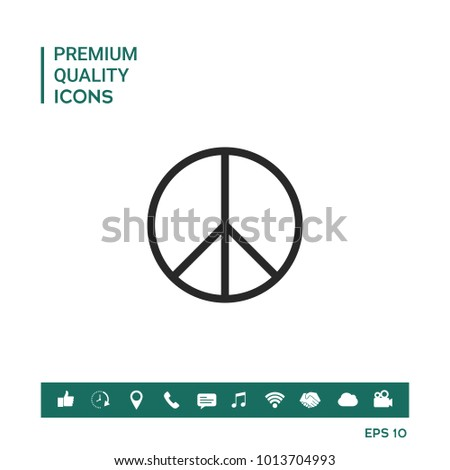 Peace symbol sign