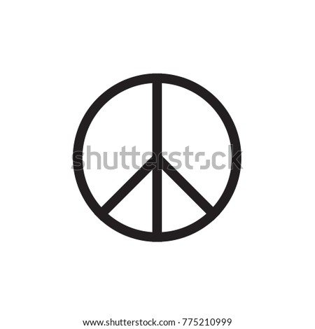 Peace Symbol Vector Icon EPS10