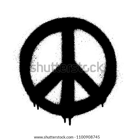 Peace symbol vector icon. Spray art illustration