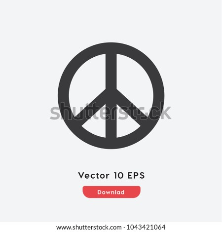Peace vector icon. Freedom symbol. Best modern flat pictogram illustration sign for web and mobile apps design