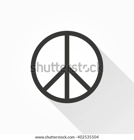 Peace   vector icon with long shadow. Illustration isolated on with background for graphic and web design.