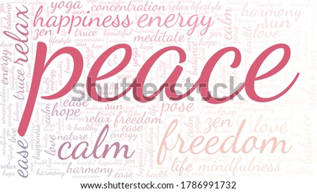 peace word cloud isolated on a