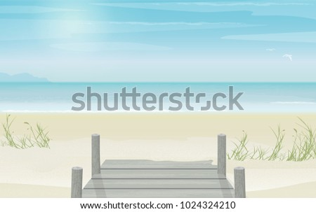 peaceful and serene view of an