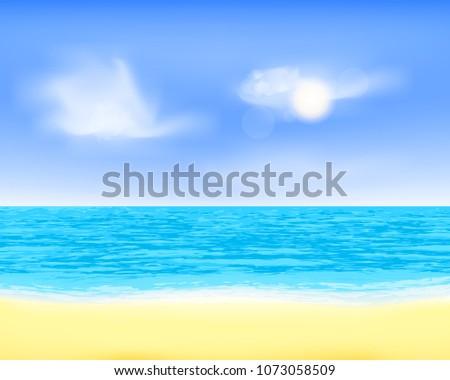 peaceful sea beach view quiet