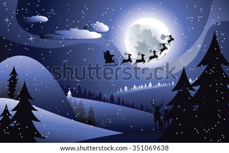 http://www.shutterstock.com/pic-351069638/stock-vector-peaceful-winter-forest-at-night-and-flying-santa-christmas-night.html?src=-AG1asX_IzTW6PMqANrjwQ-1-4