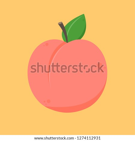 Peach cartoon vector. symbol. logo design. #1274112931