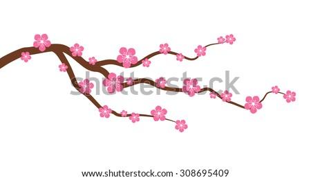 peach or cherry blossom tree