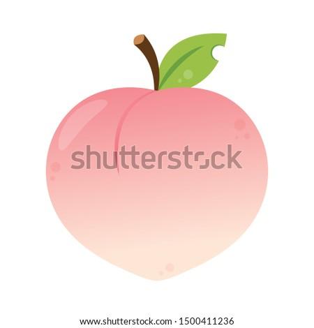 Peach vector. Peach logo design. Peach on white background.