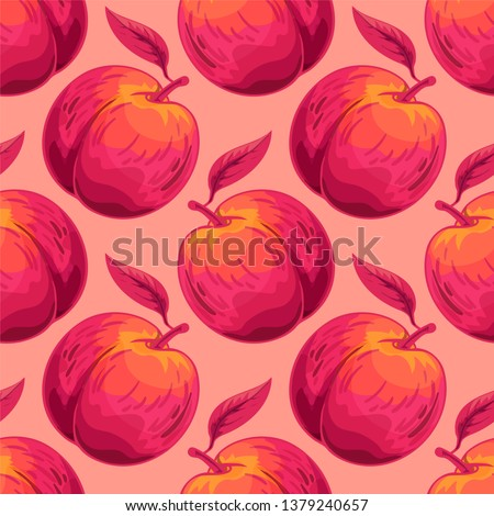 peach vector seamless pattern