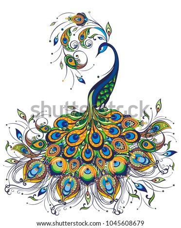 peacock drawing fantasy