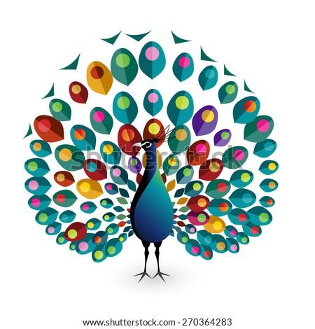 peacock  eps10 vector
