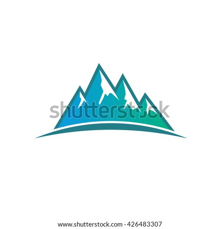 peak mountains logo vector