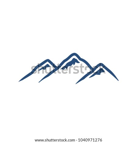 peak vector logo hill mount