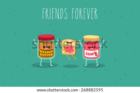 peanut butter and jam jar
