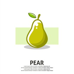 Pear fruit flat illustration. Editable and scalable vector design.