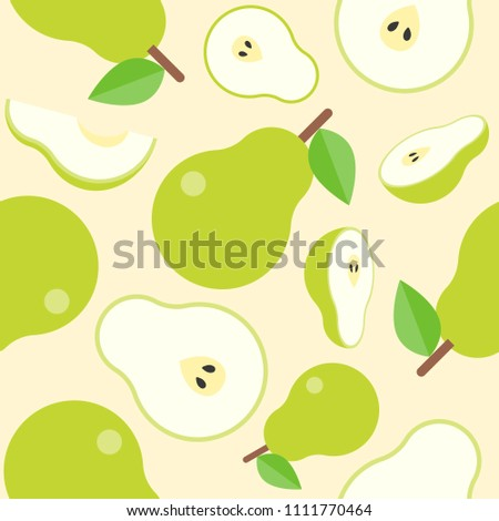 pear seamless pattern for wallpaper or wrapping paper