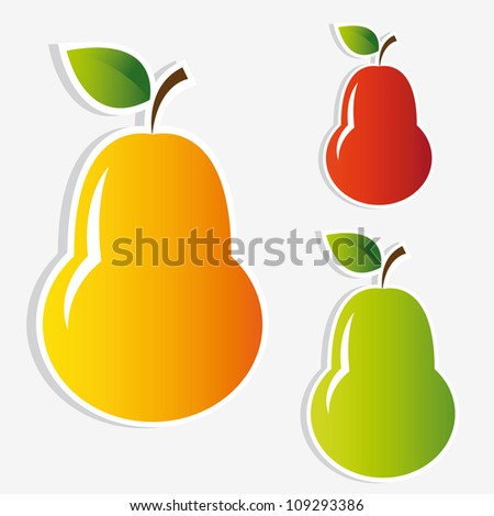 pear stickers set