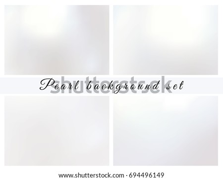 pearl background set shiny