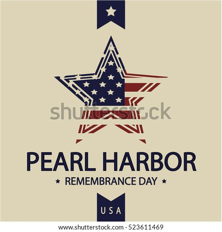 Pearl Harbor Remembrance Day card or background. vector illustration.