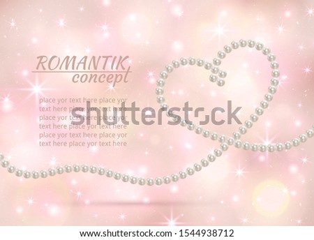 pearl hearts on a delicate pink