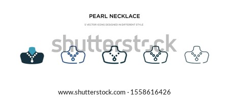 pearl necklace icon in