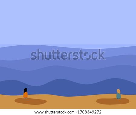 pebble art vector illustration