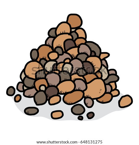 pebble stack   cartoon vector