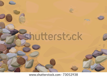 pebble stones on sand