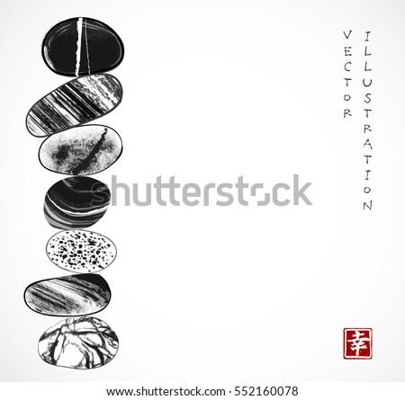 pebble zen stones balance on
