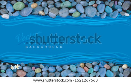 pebbles on the banks of a river