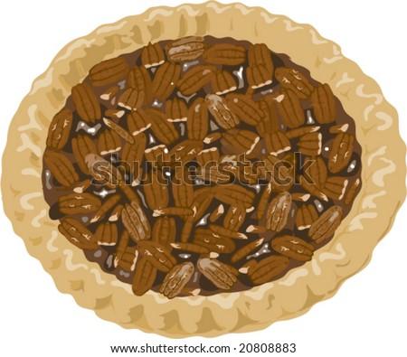 Pecan Pie Clip Art Pecan Pie Illustration...